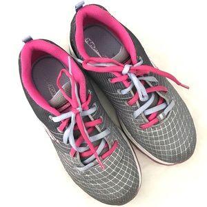 SKECHERS Pink & Gray Sneakers Size 1.5